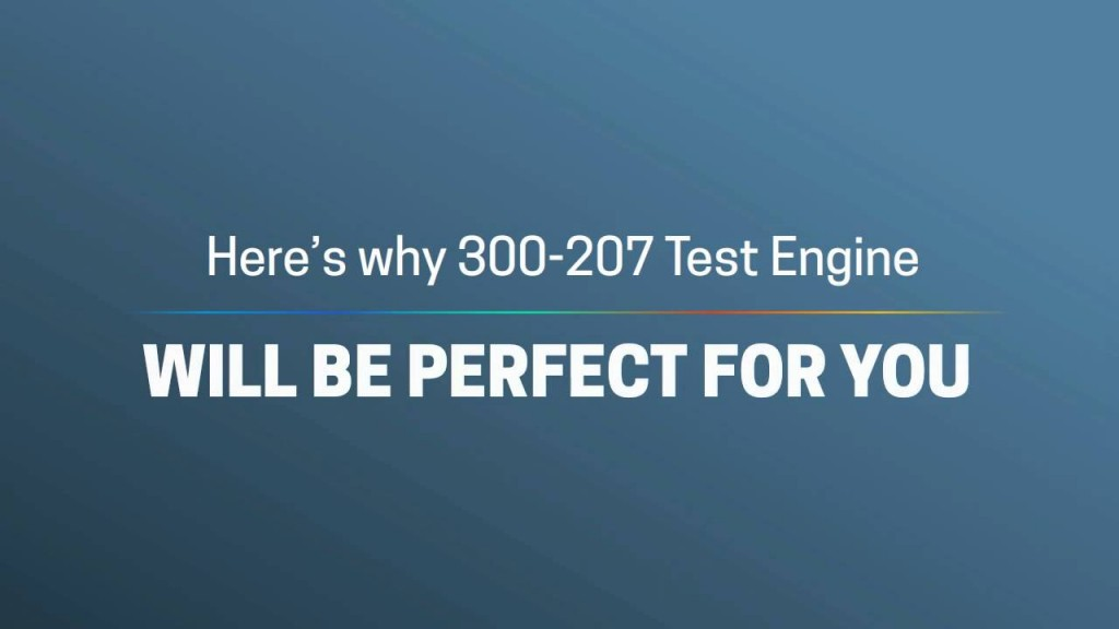 300-207 - Real IT Certification Training: Pass Exam & Get