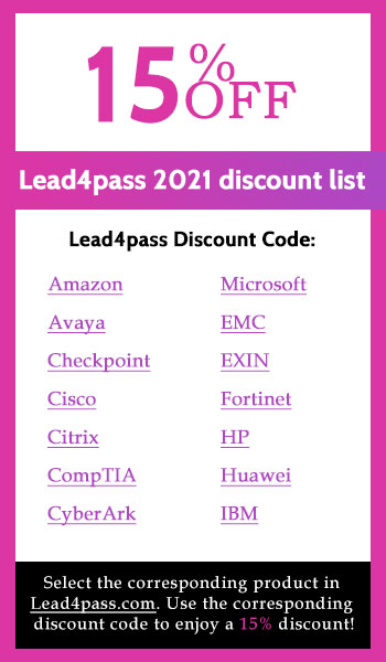 lead4pass discount code 2021