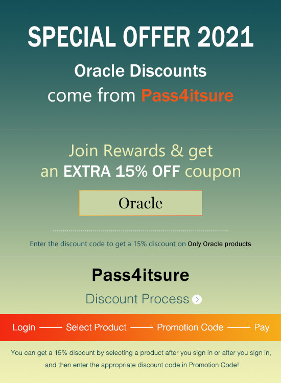 Pass4itsure Oracle exam discount code